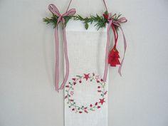 Deko und Accessoires für Weihnachten: Türband Weihnachtskränze Weihnachtsdeko made by Die Stick-AG via DaWanda.com