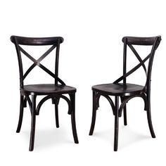 Adeco Elm Wood Rattan Antique Dining Chairs (Set of Kitchen Chairs, Dining Chair Set, Dining Room Chairs, Side Chairs, Antique Dining Chairs, Solid Wood Dining Chairs, Vintage Chairs, Luxury Home Furniture, Bar Furniture