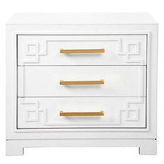 ADORABLE York 3 Drawer Nightstand | Nightstands | Bedroom | Furniture | Z Gallerie