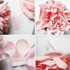 Большие цветы пионы из гофрированной бумаги. - Цветы из конфет - Поделки из…