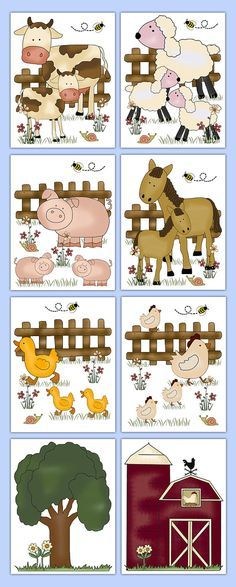 FARM ANIMAL NURSERY Decals Baby Barnyard Wall Art Stickers Room Decor Boy Girl Shower Gift Horse Pony Sheep Pig Cow Duck Chicken Barn Tree #decampstudios