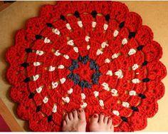 Vibrant Granny Circle Rug