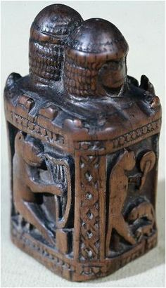 Chess piece. Rook, Lower Rhine, Germany  11th century medieval era