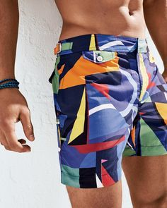 Mens Rea Tiger face fire Style Beach Shorts Classic Slim Fit Adjustable Swimming Trunks Short