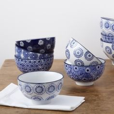 Blue and White Dipping Bowls | Tableware | rigby & mac