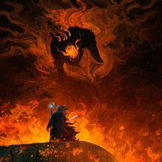 Fantasy Images, Fantasy Rpg, Tolkien, Gandalf, Legolas, Goblin, Balrog, Demon Art, Scary Art