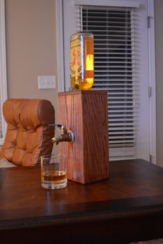 Wood Liquor Dispenser by CopperHinge on Etsy