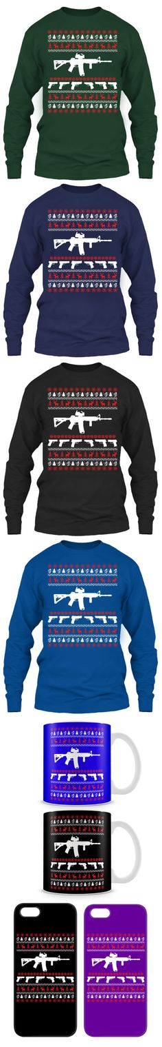 AR15 Ugly Christmas Sweater! Click The Image To Buy It Now or Tag Someone You Want To Buy This For.