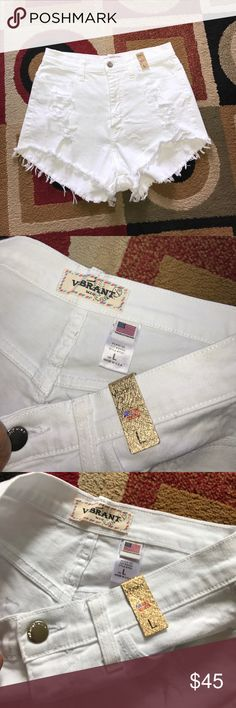 Vibrant High Waist Short Size Large NWT 😍 No trade 🚫 No model 💃🏻 Vibrant Shorts Jean Shorts