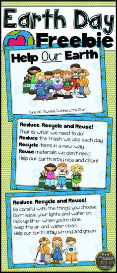 Reduce, Recycle and Reuse: Earth Day Song FREEBIE!