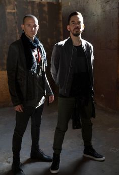 Chester Bennington with Mike Shinoda....Linkin Park
