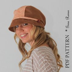 Womens Hat Sewing pattern Sun hat with flat by GinaReneeDesigns.etsy.com