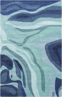 Surya Pigments Area Rug Blue, Green | Modern Rug by Surya at Contemporary Modern Furniture  Warehouse