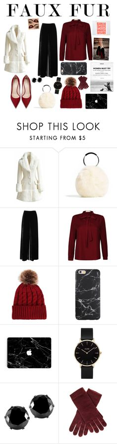 """Faux Fur: Work Christmas Party!!🎄"" by weloveut ❤ liked on Polyvore featuring M Missoni, CLUSE, West Coast Jewelry and Black"