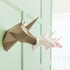 Dans la lignée des Polygonal Animals de Paperwolf ou des Paper Masks de Wintercroft, voici aujourd'hui les jolies créations du studio de design coréen PAP