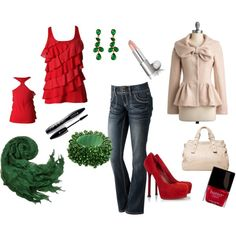 Christmas outfit., created by tiffne13 on Polyvore