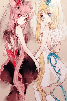 Black Lady & Princess Serenity by AHMA