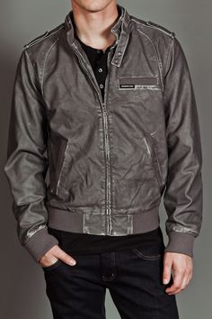 Grey Racer Jacket