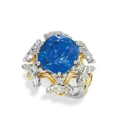 """Platinum, Gold, Sapphire and Diamond """"Bee"""" Ring, Schlumberger for Sale at Auction on Tue, 04/21/2009 - 07:00  - Important Estate Jewelry 