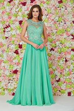 Special Occasion Dresses A Line Scoop Sleeveless Sweep/Brush Train (<30cm) Zipper Up Back With Rhinestone US$ 169.99 NPSPZKS79SG - NewPromShop.com