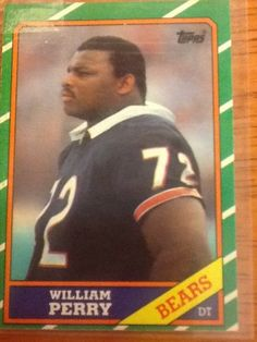 1986 Topps Card #20 William The Refrigerator Perry Chicago Bears Card