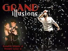 Come join us for our new show, Grand Illusions, featuring illusionist Brandon Wagster and his assistant Hannah Lynne!  Shows are every Tuesday, Thursday, and Saturday @ 7pm starting on July 21.