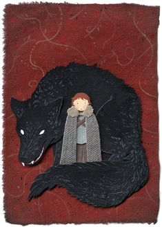 Rickon and Shaggydog: Fantastic Cut-Out GOT Fan... | Game of Thrones Fan Art