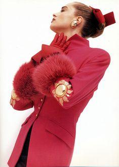 Tatjana Patitz Gianfranco Ferre 1987 ph. Herb Ritts (via: ultra-glam fashion & couture on flickr)