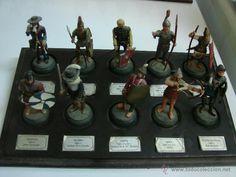Juguetes Antiguos: Coleccion de 59 soldaditos marca Almirall Palou con sus bases - Foto 6 - 39851430