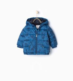 Image 1 of Printed quilted coat from Zara