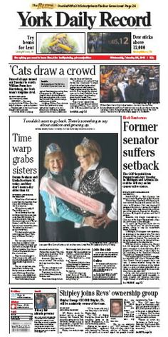 York Daily Record Feb. 29 front page