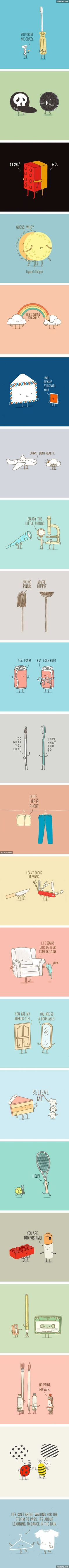 The Cutest Conversations Between Everyday's Objects (By Lim Heng Swee) - 9GAG