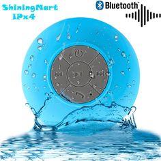 shiningmart bluetooth speaker water resistant bluetooth 30 shower speaker wireless portable audio hands