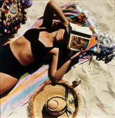 Anne Zahalka (Australia 14 May 1957–)  Title The sunbather #1, from the series Bondi: playground of the Pacific Year 1989 printed 1990