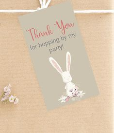 Pretty up any gift with this adorable bunny tag. Each tag is 2x3.3 inches. You will be able to print 9 gift tags on one 8.5x11 cardstock. This is an INSTANT DIGITAL DOWNLOAD. No physical item will be shipped to you. SIZE: 2.0x3.3 inches HOW IT WORKS: Purchase this listing. Once