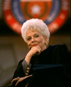 Texas' last (and best) Democrat Governor Ann Richards, when she was state treasurer.