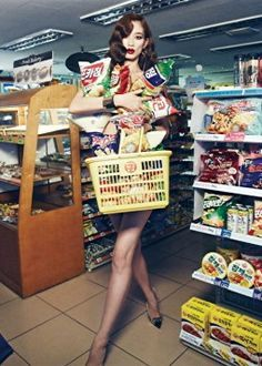 Image result for fashion editorials at grocery stores