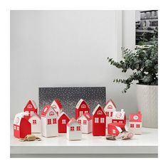 VINTER 2017 Advent calender, 24 boxes, house, patterned