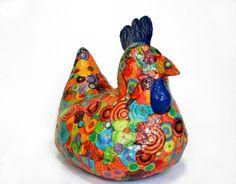 Paper mache chicken by delores