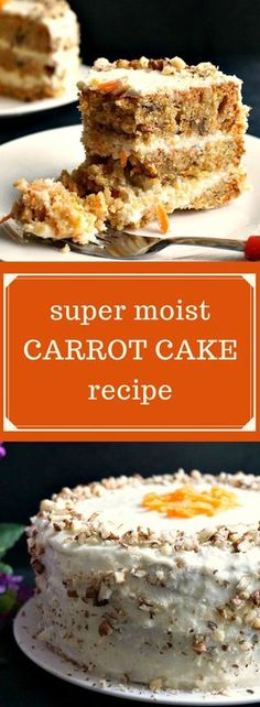 Super moist carrot cake recipe with walnuts and a scrumptious vanilla cream cheese icing, a family-favourite dessert not only for Easter, but also all year round. It is beautifully moist, with a dense texture and a magnificent blend of spices that works v
