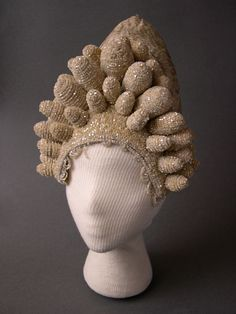 """Kokoshnik"" - headgear of a young married woman. Late 19th century. Russians. Pskov Province. The town of Toropets"