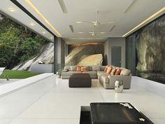 Luxury Villa Amanzi, Phuket, Thailand 5 - amazing living room with sea and pool views
