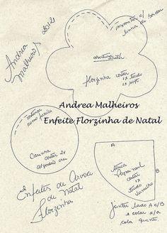 MOLDES DOS ENFEITES DE NATAL FLORZINHA by Atelier Eu & Voce by Andrea Malheiros, via Flickr