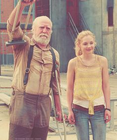 Father & Daughter<3 Hershel & Beth<3  R.I.P Hershel, i cried and cried and cried until i had no more tears to cry :'(
