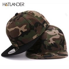 HATLANDER Camouflage snapback polyester cap blank flat camo baseball cap  with no embroidery mens cap and a043a6d721cd