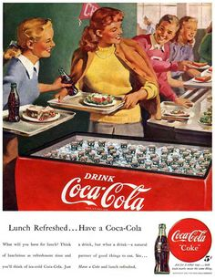Coca-Cola Lunch Refreshed Have A Coke - www.MadMenArt.com | Coca-Cola is more…