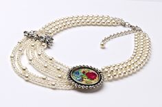 """Extravagantes Collier """"Perlen"""" aus der Lola Paltinger Schmuck Design Kollektion."""