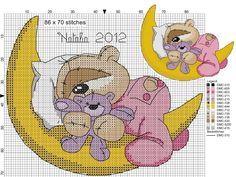Cross Stitch For Kids, Cross Stitch Baby, Cross Stitch Animals, Cross Stitch Charts, Cross Stitch Patterns, Cross Stitching, Cross Stitch Embroidery, Fizzy Moon, Stitch Cartoon
