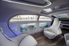 Inside the Mercedes-Benz F 015 self driving car of 2030.