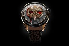 HYT Skull Maori watch, HYT brand decided to impress us once more, this version is one of its most beautiful clocks - HYT Skull Maori ...